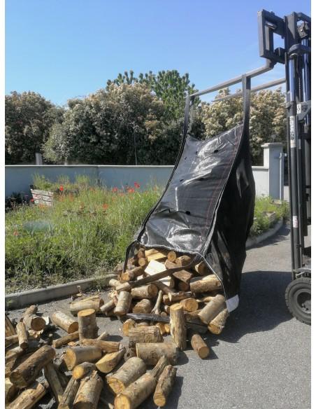 Big Bag für Brennholz 96x96x132 1000kg x 10 Einheiten