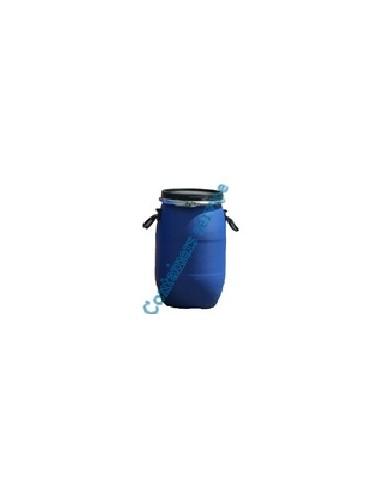 Fût 30 litres plastique bleu ouverture totale UN