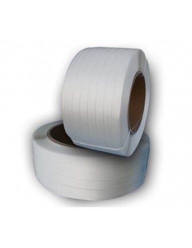 Feuillard composite fil à fil 13mm résistance 380kg 1100m mandrin 76mm vendu/1pièce