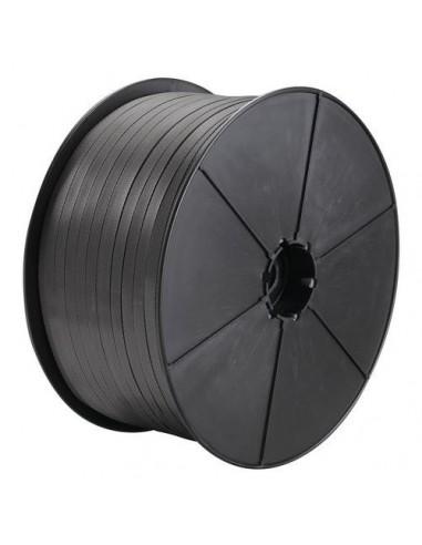 Feuillard PP manuel noir 12mm résistance 140kg 1500m mandrin 70mm vendu/1pièce