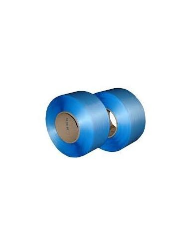 Feuillard PP machine bleu ou blanc 12mm résistance 125kg 3000m mandrin 200mm vendu/1pièce