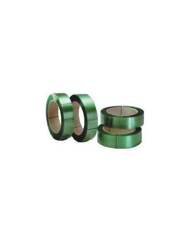 Feuillard PET machine vert 12mm résistance 150kg 2500m mandrin 200mm vendu/1pièce