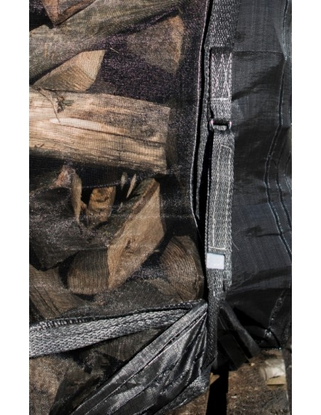 big bag for firewood with emptying skirt 96x96x132