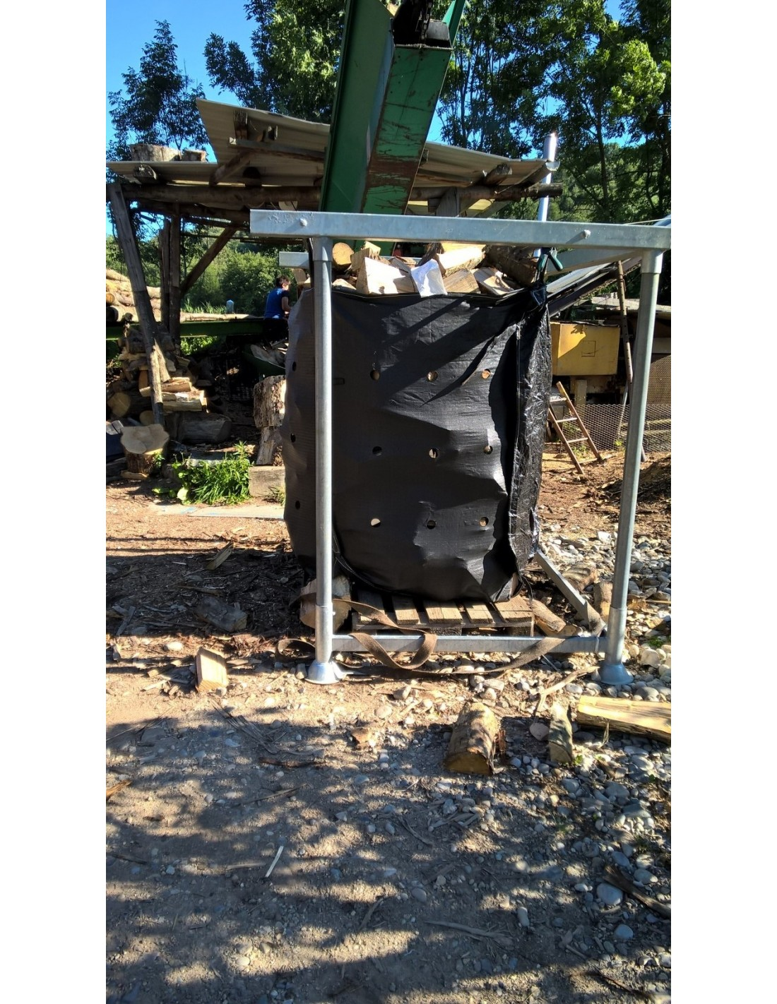 Big bag pour bois de chauffage - 1 stere de bois en kg ...